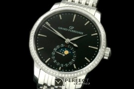 GP10002SD 1966 Date-Moonphase SS/SS Black M-9015