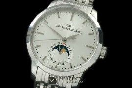 GP10001S 1966 Date-Moonphase SS/SS White M-9015