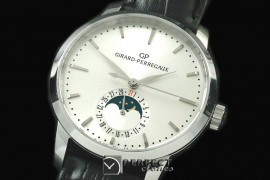 GP10001 1966 Date-Moonphase SS/LE White M-9015