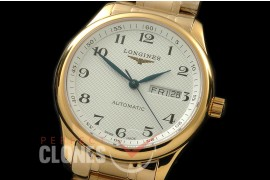 LG00066S Master Automatic Day/Date YG/YG White Num A-2836