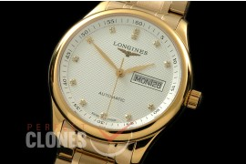 LG00068S Master Automatic Day/Date YG/YG White Diam A-2836