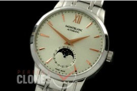 MBST10013S Star Calender Moonphase SS/SS White M-9105