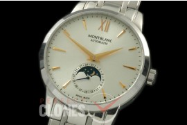 MBST10012S Star Calender Moonphase SS/SS White M-9105