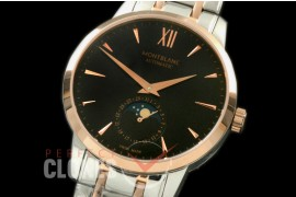 MBST10047S Star Calender Moonphase SS/RG Black M-9105