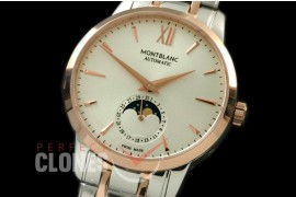 MBST10046S Star Calender Moonphase SS/RG White M-9105