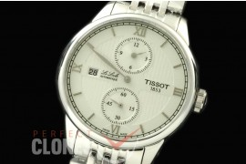 TS01001S Le Locle Regulatuer SS/SS White Seagull Modified
