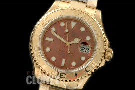 0 RYMENF00025 BP116628 Yachtmaster Men YG/YG MOP Red SA 3135 - Special Offer