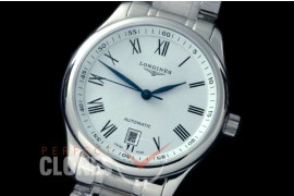 0 LG00201S Master Automatic Date SS/SS White Roman A-2836