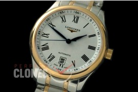 0 LG00203S Master Automatic Date SS/YG White Roman A-2836