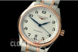 0 LG00215S Master Automatic Date SS/RG White Roman A-2836
