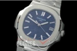 PP00409S Nautilis 5711 40th Anni Limited Edition SS/SS Blue Miyota 9015 Modified Calibre 324SC