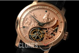 0 VCZ-110 Legend of the Chinese Zodiac - Year of the Rooster Tourbillon RG/LE Flying Man Tourbillon