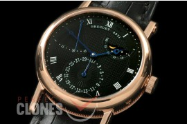 BR00068 Calender/Moonphase Power Reserve RG/LE Black Seagull ST17