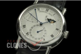 BR00011 Calender/Moonphase/Reserve SS/LE Silver Miyota 9015 Mod to Calibre 5165R