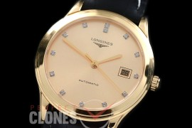 LG00155 Master Collection Automatic Date YG/LE Gold Diam M-9015