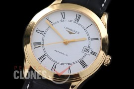 LG00157 Master Collection Automatic Date YG/LE White Roman M-9015
