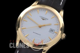 LG00151 Master Collection Automatic Date YG/LE White Sticks M-9015