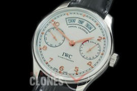 0 0 IWP7D00054R V2 Portugese 7 Days Annual Calender 5035 SS/LE White/Rose Gold A-52850
