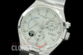 0 VCO-041S Overseas Calendar/Power Reserve/Duo Time Zone Complications SS/SS White Asian Modified Movt
