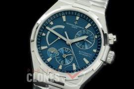 0 VCO-043S Overseas Calendar/Power Reserve/Duo Time Zone Complications SS/SS Blue Asian Modified Movt