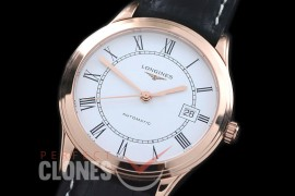LG00167 Master Collection Automatic Date RG/LE White Roman M-9015