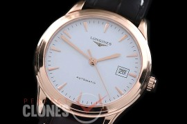 LG00161 Master Collection Automatic Date RG/LE White Sticks M-9015