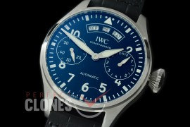 0 0 IWP7D00058 Big Pilot 150 Years Limited Ed 7 Days Annual Calender 5027-03 SS/LE Blue A-52850