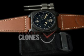 0 0 0 BR03-94-115 BR03-94 Heritage Chronograph PVD/LE Black A-7750 Sec at 3 - Bundle with Free Nylon Velcro Strap with Toolkit