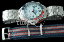 0 0 OM300M-026S OMF 2018 Seamaster Diver 300M 007 Limited Edition SS/SS White Asian Clone 2824/2507 Free Nato Strap