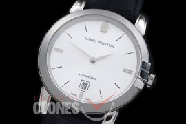 HW00101 Midnight Automatic SS/LE White Jap Miyota 9015