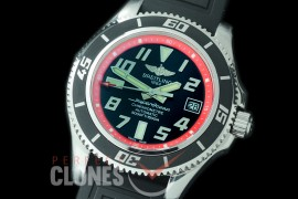BLSF00104 GMF Superocean Abyss 42 SS/RU Black/Red Asian Clone 2824 - Special Offer