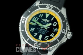 BLSF00103 GMF Superocean Abyss 42 SS/RU Black/Yellow Asian Clone 2824 - Special Offer