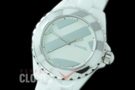 0 0 CHA-38-504 KOR-F New J12 H5582 Untitled CER/CER Rhodium Plated Decor A-2892 Mod to Chanel Calibre