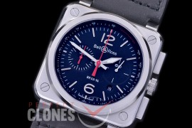 0 0 0 0 BR03-94-106 BR03-94 Chronograph Black Steel SS/LE Black A-7750 Sec at 3