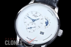 0 0 0 GL-PAN-101 Panomatic Lunar Moonphase SS/LE White Asian Custom Movt