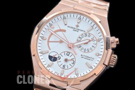 0 VCO-051S Overseas Calendar/Power Reserve/Duo Time Zone Complications RG/RG White Asian Modified Movt