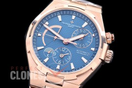0 VCO-053S Overseas Calendar/Power Reserve/Duo Time Zone Complications RG/RG Blue Asian Modified Movt