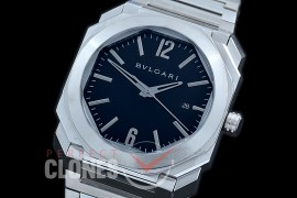 BVL-OCT-121 Octo Automatic SS/SS Black Asian 2813