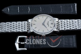 PP-5120-101 TWF Calastrava 5120 Automatic SS/SS White Sticks Asian Clone Calibre 240 - Free Leather Strap with Buckle