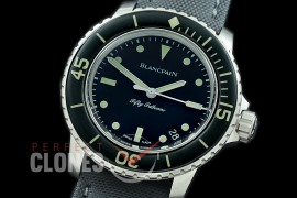 0 0 BP00008N3 ZF 50 Fathoms French Combat Swimmers Limited Edition SS/NY Black Asian 2824 - Free Strap Toolkit