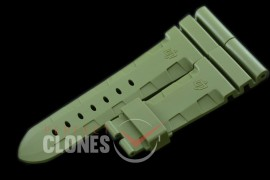 0 0 0 PNA-47-103 Diver Style Rubber Strap - Military Green