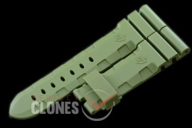 0 0 0 PNA-44-102 Diver Style Rubber Strap - Military Green