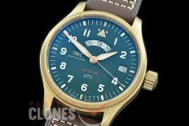 IWSPF-121 ZF Pilot Automatic UTC Spitfire MJ271 Bronze Special Edition IW327101 BZ/LE Green A-2824