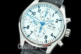 0 0 IWP00090 Pilot Chronograph 377725 150 Years Anniversary Limited Edition SS/LE White A-7750