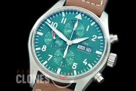 0 0 IWP00091 Pilot Chronograph 377726 Racing Limited Edition SS/LE Green A-7750