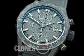 0 0 0 0 0 TGCH1-021R XF/VSF Carrera Heuer-01 CLEP Liimited Ed Chronograph PVD/RU Antracite A-7750