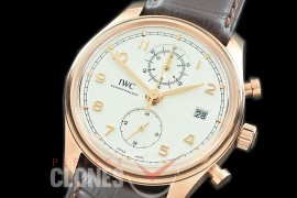 0 0 0 IWPGC-006 ZF Portugieser Chronograph Classic IW3903-01 RG/LE White A-7750 Mod to Calibre IW89361
