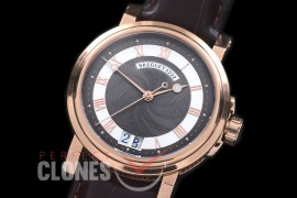 0 BR18108 Big Date Marine Automatic RG/LE Black Customized Perpetual Big Date Movt