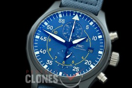 0 0 IWP00074 YLF Pilot Chronograph 389008 Blue Angels Special Edition CER/NY Blue A-7750