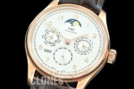 0 0 0 IWPPC-106 V9F Portugese Perpetual Calender IW503302 RG/LE White Asian Custom Movt